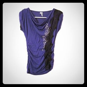 Lacey pattern blouse